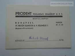 ZA167.24  Hungary  Budapest -PRODENT  Dental Shop - Magasin Dentaire  Ca 1930 - Publicités