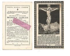 D 550. MONICA  JAMAR - Jonge Dochter - °BEVERLOO 1816 En Aldaar + 1890 - Images Religieuses