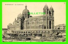 MARSEILLE (13) - LA CATHÉDRALE ET LE MARCHÉ ANIMÉE - ÉDITION ROSENTHAL - - Marseille