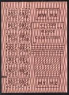 Vieux Papiers > Non Classés  Tickets D Alimentation Viande Et Charcuterie 1943 - Non Classés