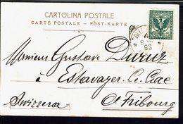 "ITALIE - 1902 - Timbre N° 66 Sur Carte Postale ""Milano. La Cattedrale"" Pour Fribourg (Suisse) B/TB - - 1900-44 Vittorio Emanuele III"