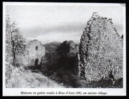 1996  --  MAISONS EN GALETS ROULES A BRAS D ASSE 04  UN ANCIEN VILLAGE   3Q457 - Non Classés