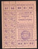 Vieux Papiers > Non Classés  Clermain 71 Tickets D Alimentation Viande Et Charcuterie 1943 - Non Classés