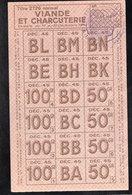 Vieux Papiers > Non Classés  Clermain 71 Tickets D Alimentation Viande Et Charcuterie 1945 - Non Classés