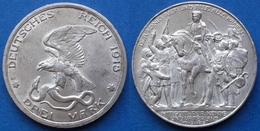 PRUSSIA · GERMANY - Silver 3 Marks 1913 A KM# 534 - Edelweiss Coins - [ 2] 1871-1918 : German Empire