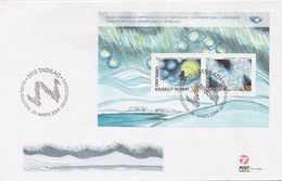OLD NORDIC TALES AND LEGENDS - MYTHICAL BEINGS MOON MAN NORTHERN LIGHT - GREENLAND GRÖNLAND 2004 FDC MI BL 28 Folklore - Contes, Fables & Légendes