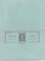 Entier Postal Stationery - Carte Lettre Ceylon  (reply) - Sri Lanka (Ceylan) (1948-...)