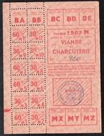 Vieux Papiers > Non Classés  Clermain 71 Tickets D Alimentation Viande Et Charcuterie 1944 - Non Classés
