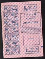 Vieux Papiers > Non Classés  Clermain 71 Tickets D Alimentation Viande Et Charcuterie 1942 - Non Classés