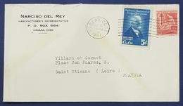 1951 Cover, Narciso Del Rey, Havana Cuba - Saint Etienne France, Habana - Covers & Documents