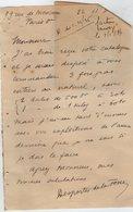 VP14.320 - LAS - PARIS 1936 - Noblesse - Lettre Autographe De Mr DESPORTES DE LA FOSSE - Autographs