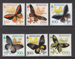 2010 Mongolia Butterflies  Complete Set Of 6 MNH - Mongolia