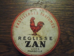 BOITE DE ZAN / REGLISSE : ANCIENNE / UZES /MARSEILLE / - Boîtes