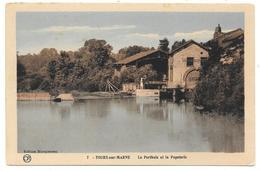 51 - TOURS Sur MARNE - Le Perthuis Et La Papeterie - Ed. Moquereau / OR Ch. Brunel N° 7 Colorisée - France