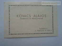 ZA167.28 Handwritten Bill For Room Painting On Visiting Card Backside -  Hungary Budapest 1940  Kovács Alajos - Factures & Documents Commerciaux