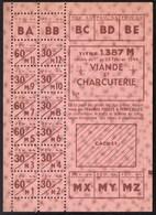 Vieux Papiers > Non Classés  Tickets D Alimentation Viande Et Charcuterie 1944 - Non Classés