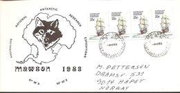 1983. AUSTRALIAN NATIONAL ANTARCTIC RESEARCH EXPEDITIONS MAWSON.  4X 25 C. MAWSON -4.... (Michel 45) - JF120081 - Territoire Antarctique Australien (AAT)