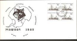 1983. AUSTRALIAN NATIONAL ANTARCTIC RESEARCH EXPEDITIONS MAWSON.  4X 50 C. MAWSON -4.... (Michel 50) - JF120082 - Australian Antarctic Territory (AAT)