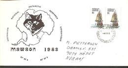 1983. AUSTRALIAN NATIONAL ANTARCTIC RESEARCH EXPEDITIONS MAWSON.  8 Covers With Pairs... (Michel 52+) - JF120080 - Territoire Antarctique Australien (AAT)
