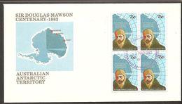1983. SIR DOUGLAS MAWSON CENTENARY. 75 C. FDC -2 MAR 1983. (Michel 54) - JF120083 - Territoire Antarctique Australien (AAT)