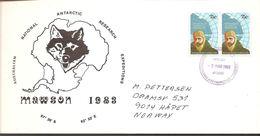 1983. AUSTRALIAN NATIONAL ANTARCTIC RESEARCH EXPEDITIONS MAWSON.  2X 27 + 2X 75 C. FD... (Michel 53-54) - JF120084 - Territoire Antarctique Australien (AAT)