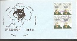 1983. AUSTRALIAN NATIONAL ANTARCTIC RESEARCH EXPEDITIONS MAWSON.  4X 27 + 4X 75 C. FD... (Michel 53-54) - JF120085 - Australian Antarctic Territory (AAT)