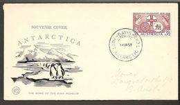 1957. 3½ D. DAVIS AUST. ANTARCTIC TER. ANARE 14 JA 57. (Michel 262) - JF120086 - Territoire Antarctique Australien (AAT)
