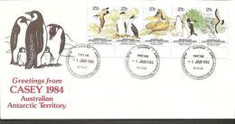 1984. 5X 27 C FDC CASEY -1. JAN 1984. RADIO OFFICE -1 JAN 1984 CASEY. (Michel 55-59) - JF120087 - Australian Antarctic Territory (AAT)