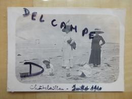 17 CHATELAILLON PLAGE - BOURGEOISES AVEC ENFANTS 1910 PHOTO - Châtelaillon-Plage