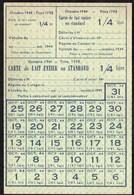 Vieux Papiers > Non Classés  Tickets Carte De Lait Entier 1944 - Non Classés