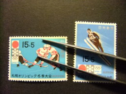JAPON 1971 Jeux Olympiques De Saporo Yvert 1000 / 01 ** MNH - 1926-89 Emperador Hirohito (Era Showa)