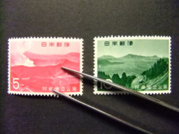 JAPON 1965 PARC NATIONAL Aso Yvert 803 / 04 ** MNH - 1926-89 Emperador Hirohito (Era Showa)