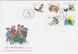 FAIRY-TALES LITERATURE CHRISTMAS IN BULLERBY By Astrid Lindgren  SWEDEN 2005 FDC MI 2001 - 2005 Schweden Suede Suecia - Fairy Tales, Popular Stories & Legends