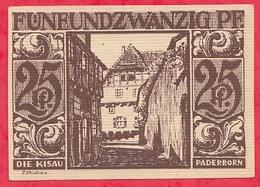 Allemagne 1 Notgeld  25 Pfenning Stadt  Paderborn Dans L 'état  Lot N °3192 - [ 3] 1918-1933 : République De Weimar