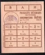 Vieux Papiers > Non Classés  Clermain 71 Tickets  Feuille Pour Produits Detersifs 1944 - Non Classés