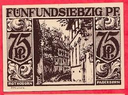 Allemagne 1 Notgeld  75 Pfenning Stadt  Paderborn Dans L 'état  Lot N °3195 - [ 3] 1918-1933 : République De Weimar