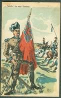 WW1 Carte Caricature Anti Guillaume Reich Allemand Angleterre Signée A.C. - Autres Illustrateurs