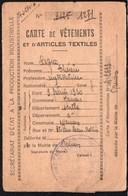 Vieux Papiers > Non Classés Mamers 72 Carte De Vetements Et Textiles 1945 - Non Classés