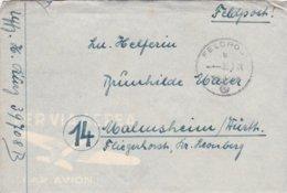 German Feldpost WW2: From Balkan - Regiment 1 Brandenburg (1. Kompanie In I. Bataillon) FP 39708B P/m 11.6.1944 - Letter - Militaria