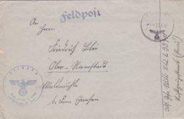 German Feldpost WW2: 1. Kompanie Luftwaffen-Bau-Bataillon 7/XVII FP L33411 LGPA Paris P/m 28.9.1941 - Letter - Militaria