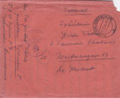 German Feldpost WW2: Flugzeugführerschule A 9 (2. Techn. Kompanie) P/m Falkenau (Oderschles) 23.2.1944 - Letter Inside - Militaria
