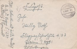 German Feldpost WW2: To Flugzeugführerschule A/B 7 In Plauen From RAD Lager 5/274 P/m Spreewald 16.10.1941 - Letter - Militaria