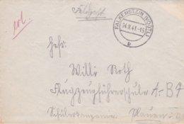 German Feldpost WW2: To Flugzeugführerschule A/B 7 In Plauen P/m Falkenstein (Vogtl) 24.9.1941 - Letter Inside  (0047) - Militaria