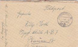 German Feldpost WW2: To Flugzeugführerschule A/B 7 In Plauen P/m Bergen 17.5.1941 - Letter Inside  (0047) - Militaria