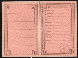 Vieux Papiers > Non Classés Carte Individuelle D Alimentation - Non Classés