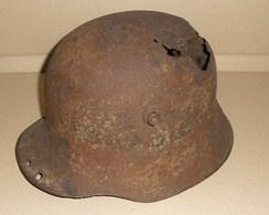 Austrian Helmet Ww1 Coque De Casque Autrichien 14-18 Original Relic - 1914-18