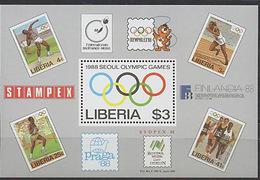 Liberia, Olymphilex, 1988 Block - Summer 1988: Seoul