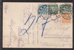 1924. Postage Due. Porto. Chr. X. 7 Øre Orange  + 20 ØRE SØNDERBORG 18. 9. 24. On Pos... (Michel P3) - JF111099 - Port Dû (Taxe)