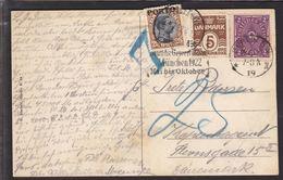 1922. Postage Due. Porto. Chr. X. 25 Øre Brown/black KJØBENHAVN V. 1 OMB. 23.6.22. On... (Michel P6) - JF111105 - Port Dû (Taxe)