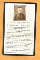 IMAGE GENEALOGIE FAIRE PART AVIS DECES CARTE MORTUAIRE CHANOINE CURE ASTIER SAINT AMANT MENDE CLERMONT 1830 1896 - Décès